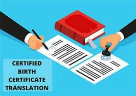 Birth certificate Translation from Hindi to English